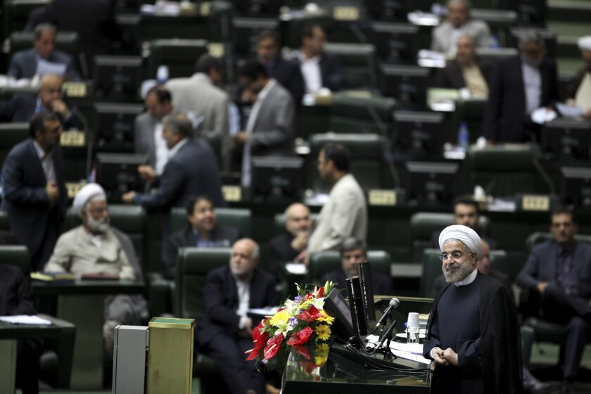 Rouhani to show Iran's 'true face' at U N , seek sanctions