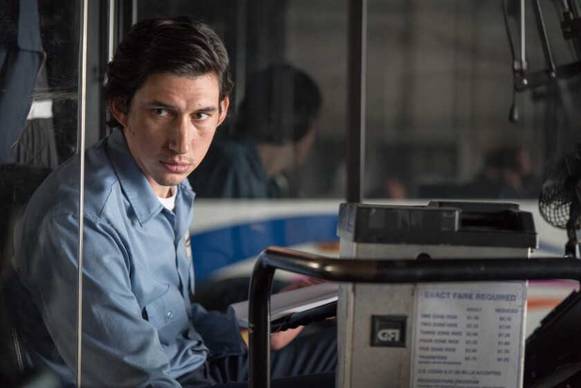 "Adam Driver as Paterson in ""Paterson."" Credit: Mary Cybulsky / Window Frame Films"