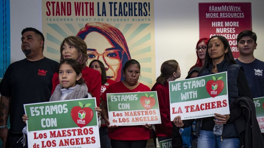 LOS ANGELES, CA - DECEMBER 21, 2018: Parents, students and educators attend a press conference call