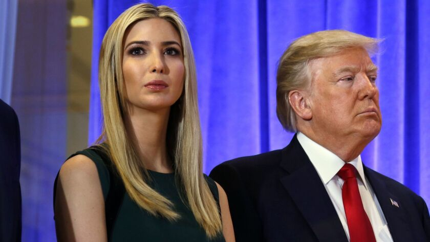NEW YORK, NEW YORK--JAN. 11, 2017--Ivanka Trump along with her father President Elect Donald Trump h