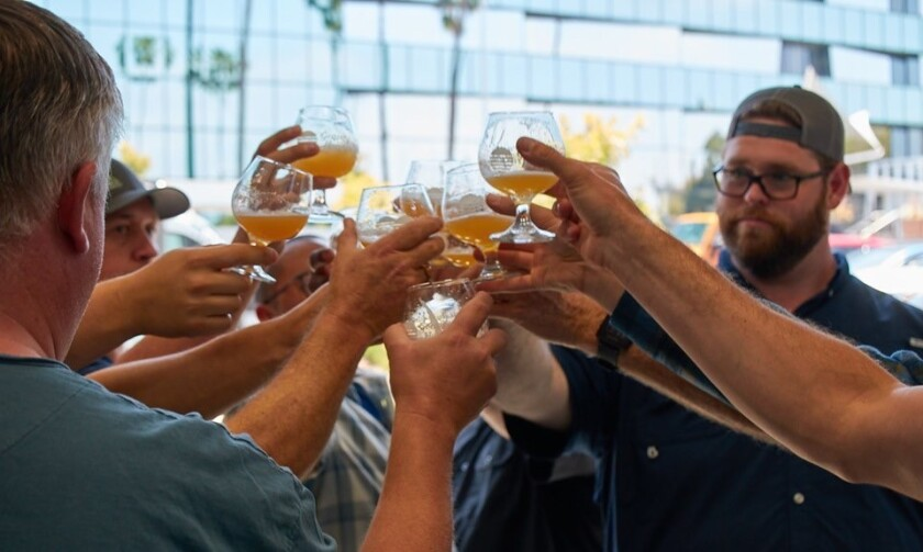 At Gravity Heights, brewers toast the 2019 batch of Cheers for Sarah, a beer that raises money for young cancer patients.
