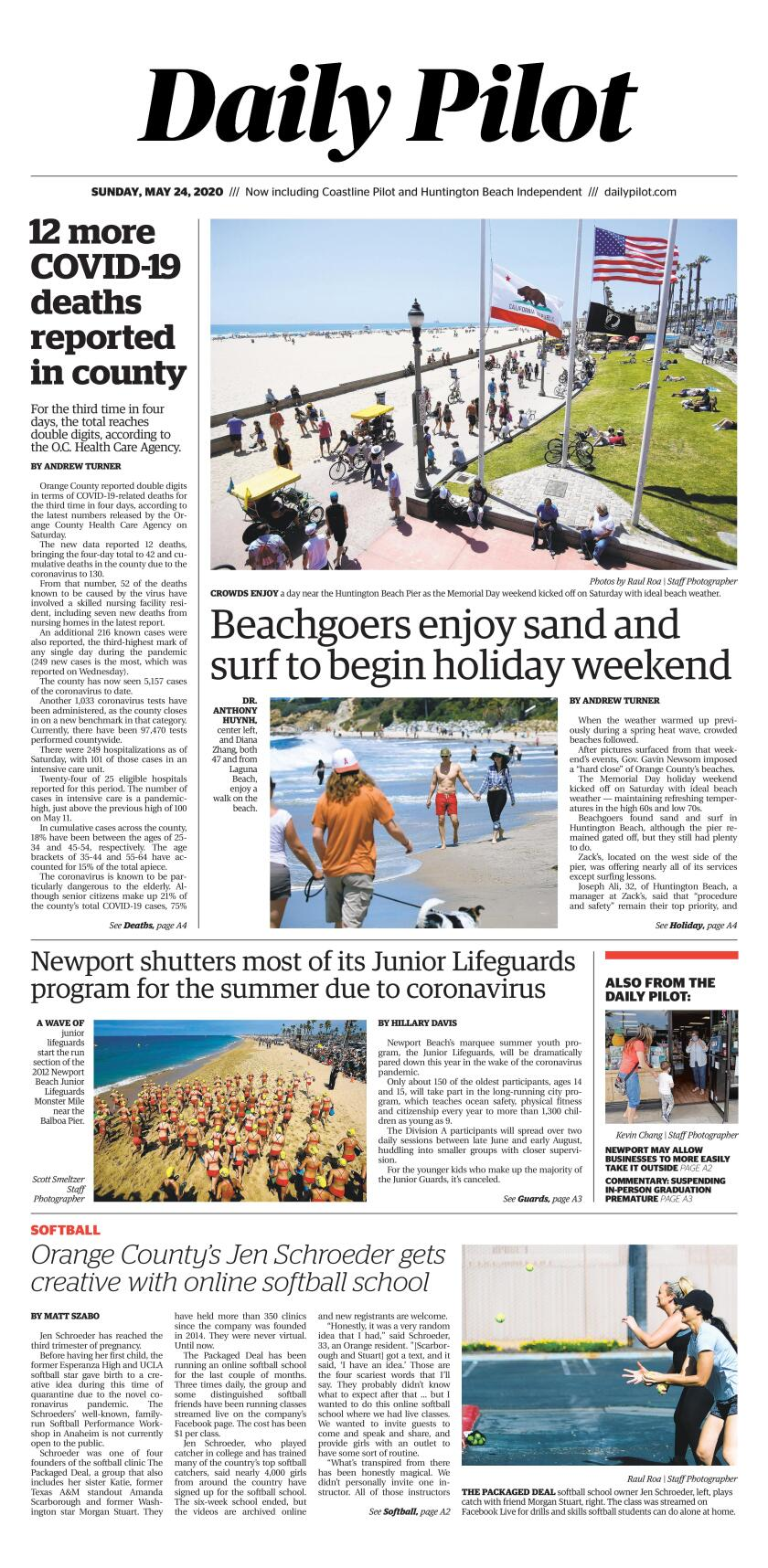 Daily Pilot e-Newspaper: Sunday, May 24, 2020