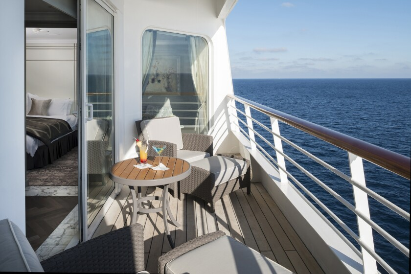 Enjoy the fabulous view from the Crystal penthouse veranda on the Crystal S