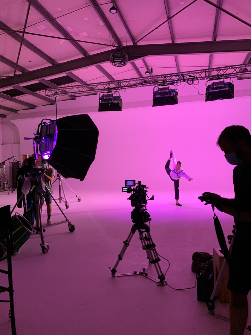 A video shoot for singer-songwriter Jessie Ware.