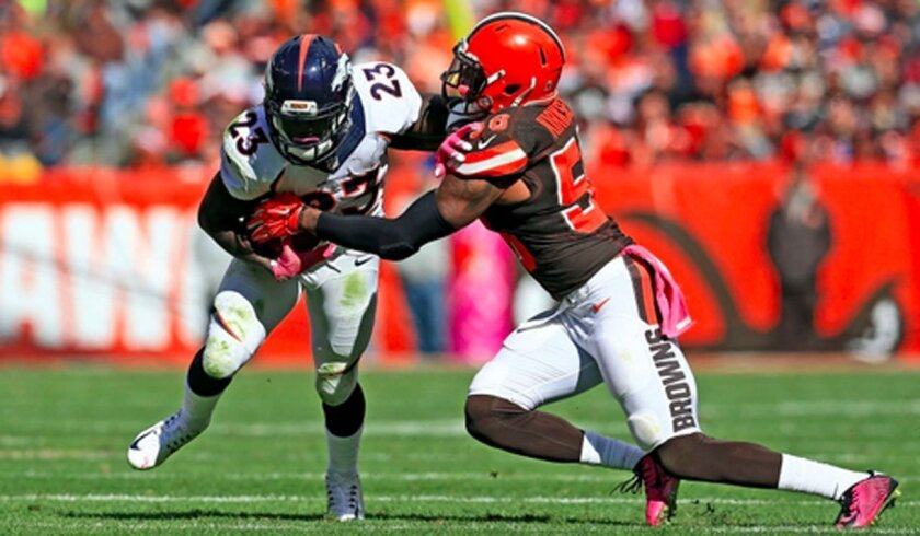 Denver running back Ronnie Hillman had only seven carries against Indianapolis.