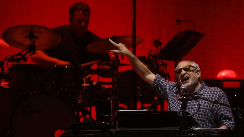 INGLEWOOD, CA - MAY 30, 2018 - Donald Fagen, co-founder of Steely Dan, performs with the group at th