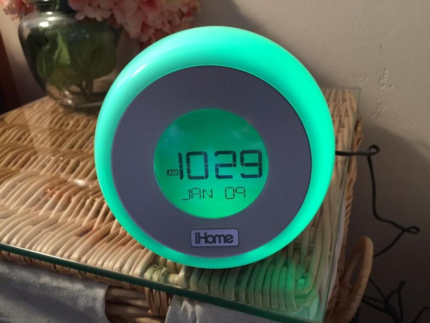 One of the six color modes for the iHome alarm clock