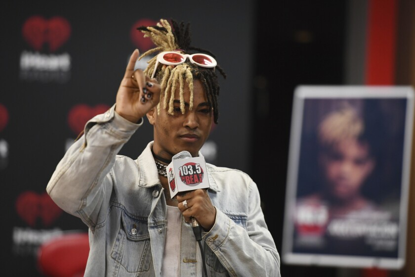 FORT LAUDERDALE, FL - MAY 26: Xxxtentacion visits iHeart radio Station 103.5 The Beat on May 26, 201