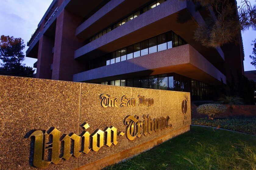 The parent company of The San Diego Union-Tribune  announced Wednesday that it has reached an agreement to sell the newspaper  to the Beverly Hills private equity firm Platinum Equity for an undisclosed  price.