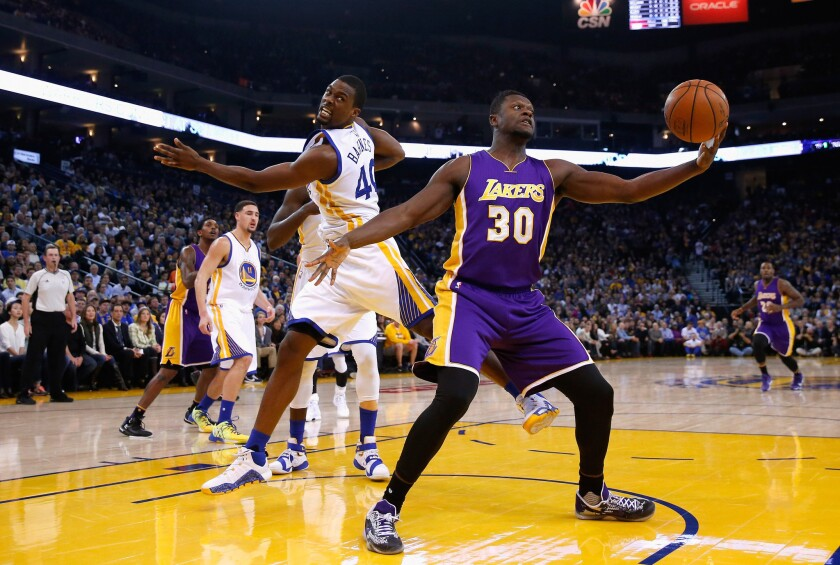 Lakers forward Julius Randle works to get a handle on his shooting problems
