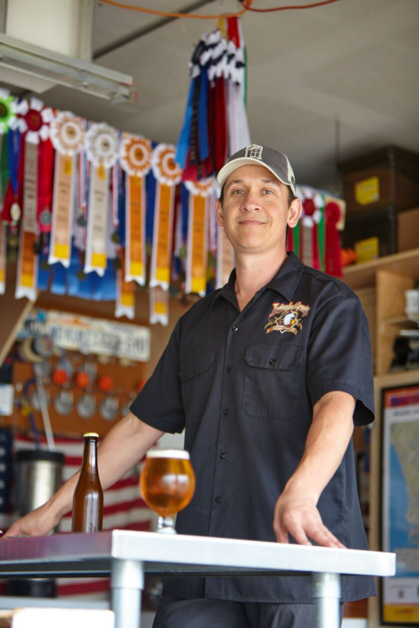 Nick Corona, seen in 2017 when he was named California State Homebrewer of the Year.