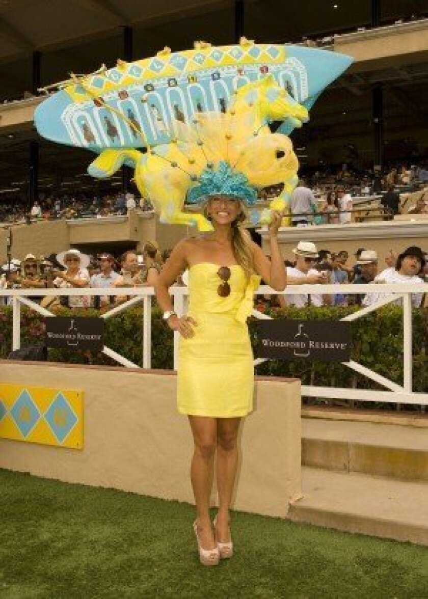 Katy Helen Stockinger dazzles at a past One and Only Truly Fabulous Hats Contest. Photo: Benoit Photo