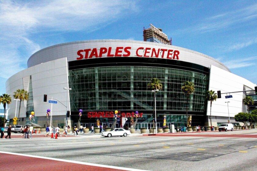 Staples Center de Los Angeles, sede de la entrega 59 de los Grammy 2017.