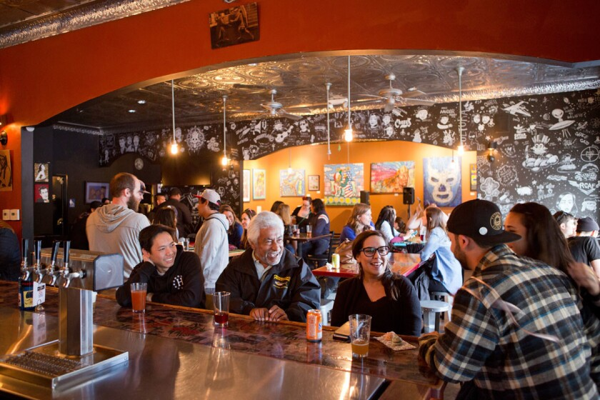 Border X Brewing, a Mexican craft beer specialist in the Barrio Logan neighborhood of San Diego.