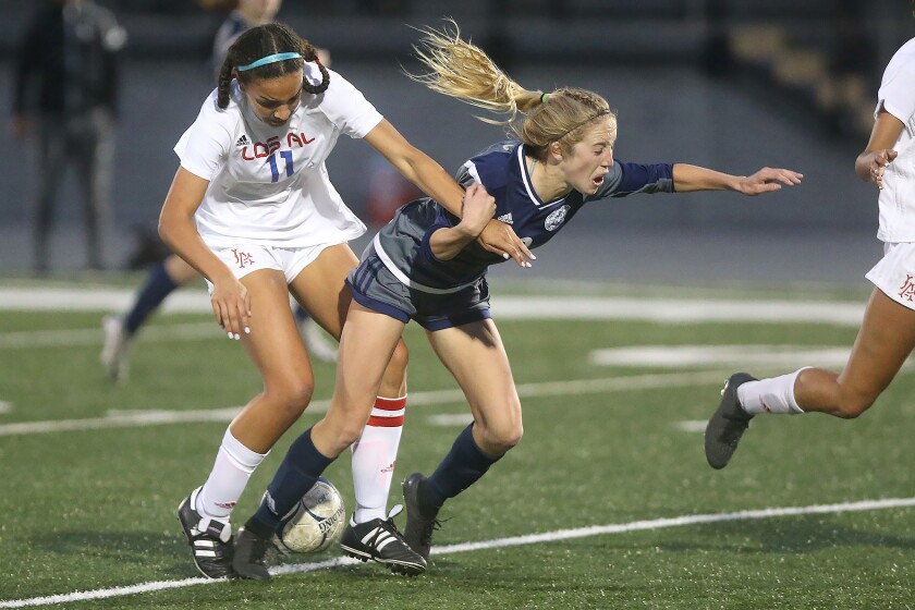 Photo Gallery: Newport Harbor vs. Los Alamitos in girls' soccer