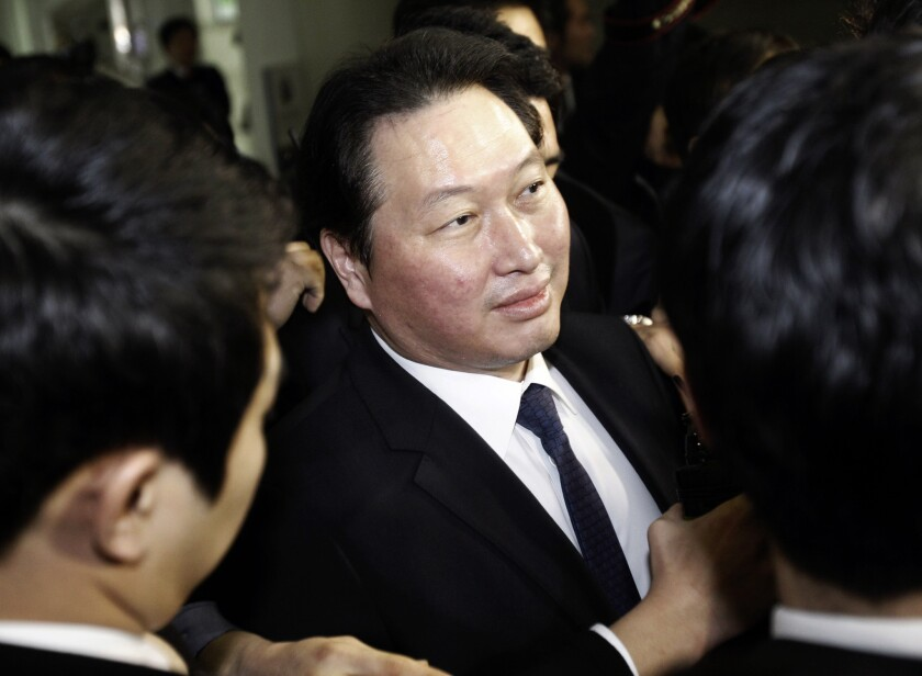 South Korea tycoon sentenced for embezzling more than $40 million