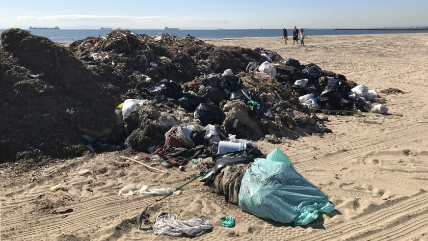Beaches look like trash dumps after multiple storms in