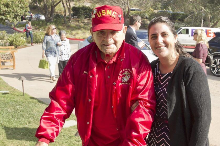 WWII veteran Phil Mayer, Abbi Castaneda