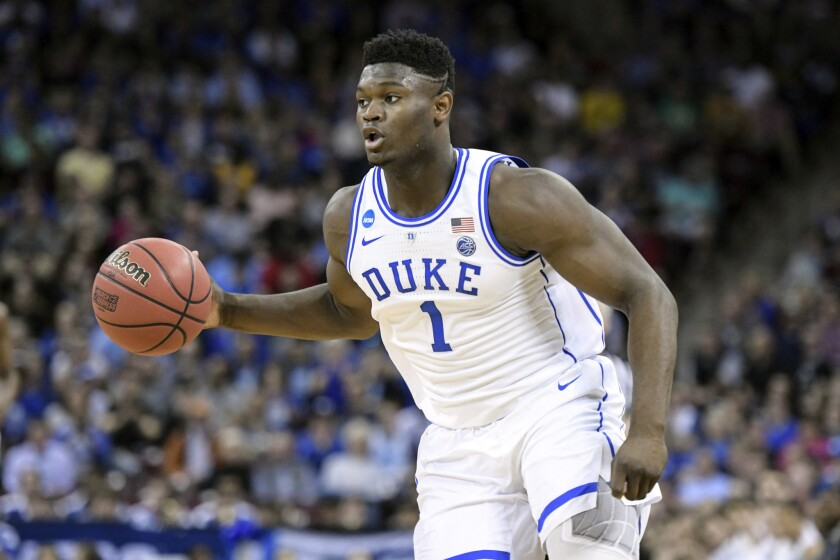 sports shoes 0204c a6b1f No improper benefits for Zion Williamson, Duke report ...