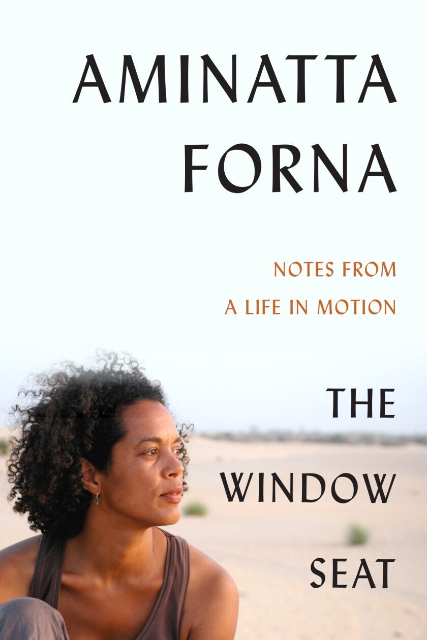 """A portrait of a woman graces the book cover for """"The Window Seat: Notes From a Life in Motion,"""" by Aminatta Forna"""