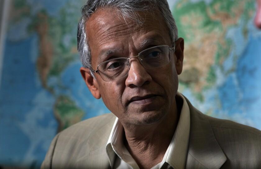 Scripps Institution of Oceanography climate scientist Veerabhadran Ramanathan.