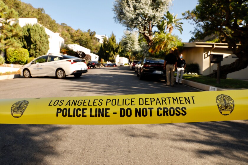 An investigation is underway at a party house in the the 2200 block of San Ysidro Drive after a fatal shooting.