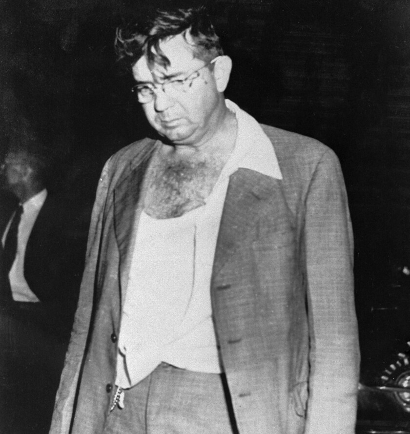 In this Nov. 7, 1951, file photo, Sheriff Willis McCall of Lake County, Fla., is shown after shootin