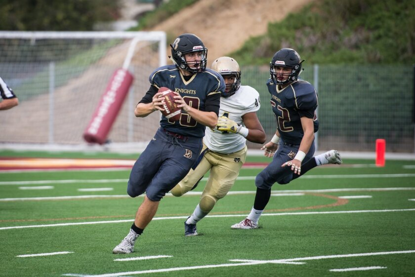 Quarterback Griffin Seaman. Photo by Betsy Bourn