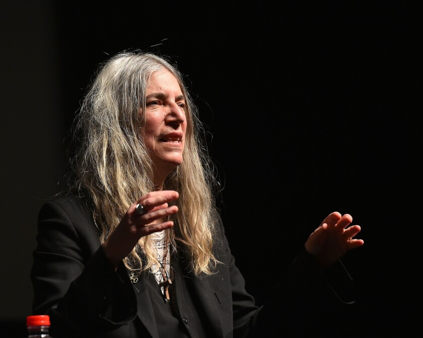 "Patti Smith, seen here at the 2016 Tribeca Film Festival, won the National Book Award in 2010 for her memoir ""Just Kids."""