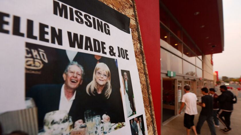 SANTA ROSA, CA -- OCTOBER 16, 2017 -- A missing person flyer for Ellen and Joe Wade is posted on a b