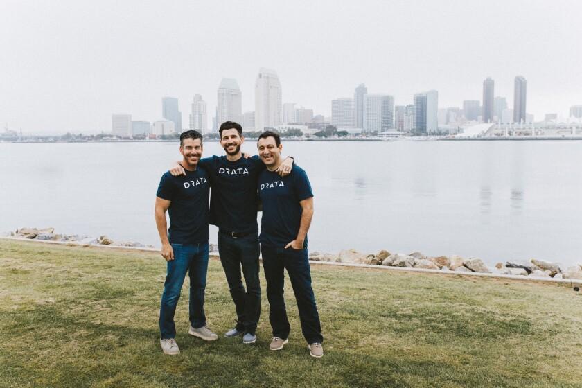 Drata founders Adam Markowitz, Troy Markowitz and Daniel Marashlian.