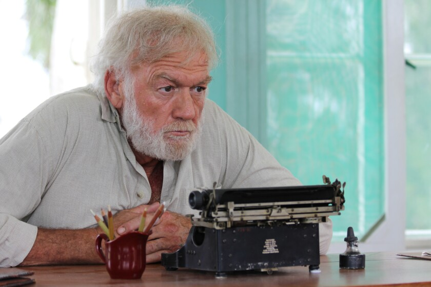 """Adrian Sparks as Ernest Hemingway in """"Papa: Hemingway in Cuba."""" The film is the first full-length Hollywood feature filmed on the island since the 1959 Cuban Revolution."""