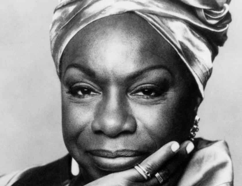 The late singer Nina Simone.