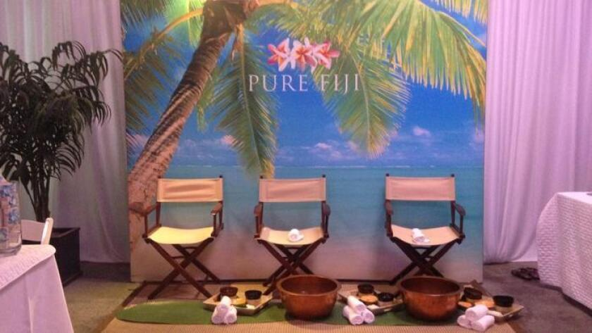 Attendees of KAABOO Del Mar could stop in to Meet Me At The Spa and enjoy any number of spa services to help them relax and recuperate. (Liz Bowen)