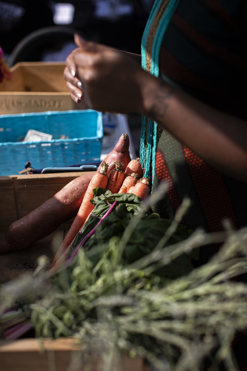 Süprmarkt sells organic produce to communities in South L.A., at stands and via a subscription-based delivery service.