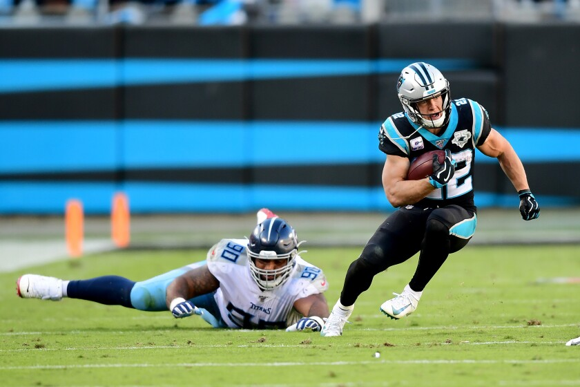 Christian McCaffrey has helped the Carolina Panthers thrive in the absence of quarterback Cam Newton.