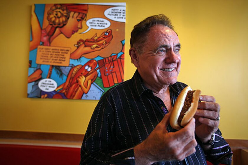 John Galardi opened the first Wienerschnitzel in L.A. in 1961. It's now the world's largest hot dog chain, with 350 locations.