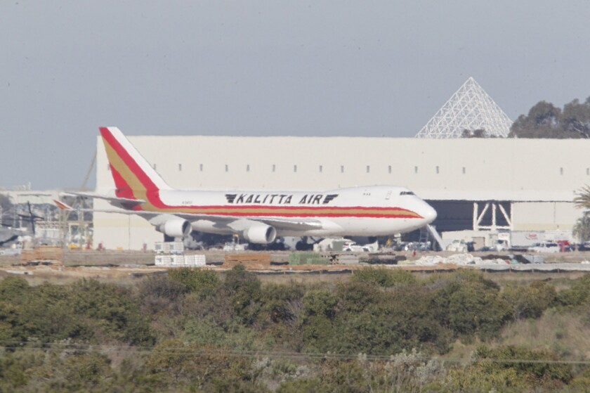 A Kalitta Airlines jet carrying US citizen evacuated from China where the coronavirus is raging landed at MCAS Miramar about 8:30 a.m. Friday.