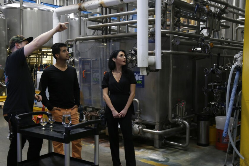 PACIFIC blind daters Lauren and Kevin take a tour of the Green Flash Brewery in Mira Mesa guided by brewmaster Devin McGuire.