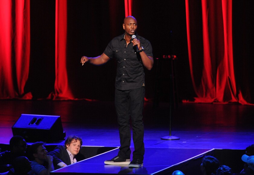 Dave Chappelle performs at Radio City Music Hall in New York on June 18.
