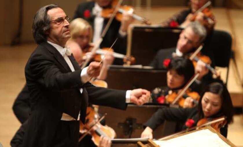 Riccard Muti conducts at the opening night of the Chicago Symphony Orchestra in 2011.