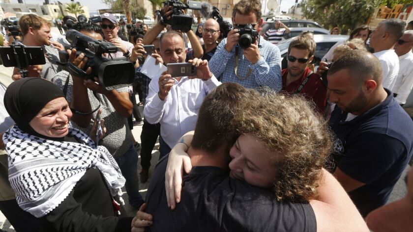 Palestinian teenager Ahed Tamimi released from prison, Ramallah, --- - 29 Jul 2018