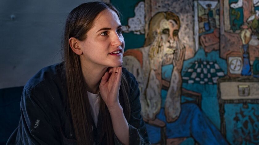 """LOS ANGELES, CA - FEBRUARY 13, 2019: Artist Gretchen Andrew will be showing her work on """"Frieze Los"""
