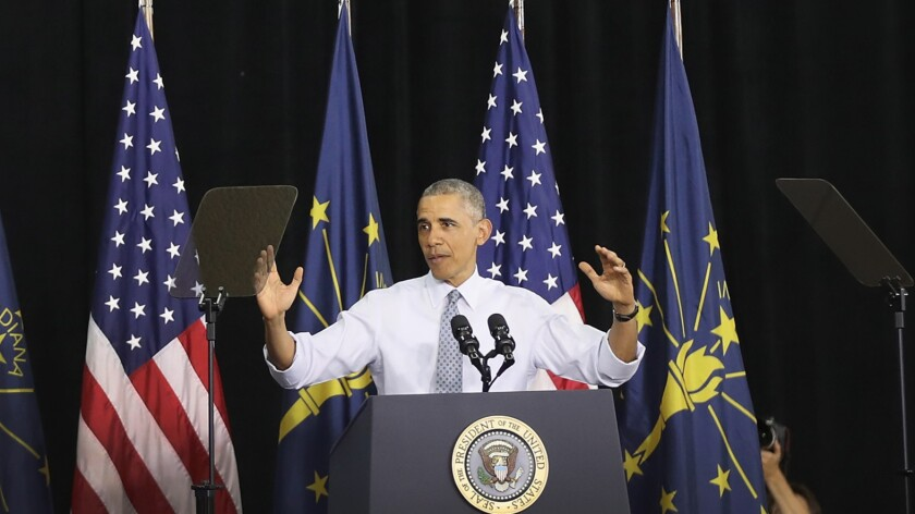 President Obama speaks Wednesday in Elkhart, Ind., where he made a pitch to expand Social Security.
