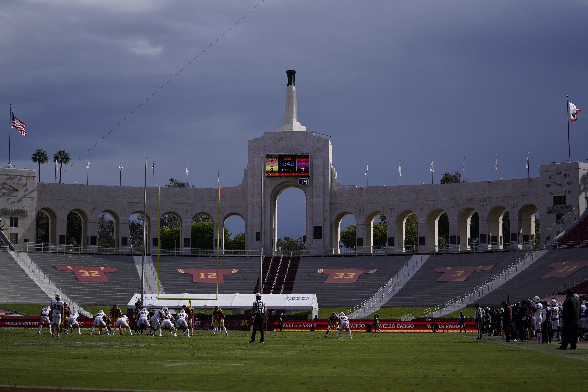 The Coliseum on Nov. 7, during the first half between USC and Arizona State.