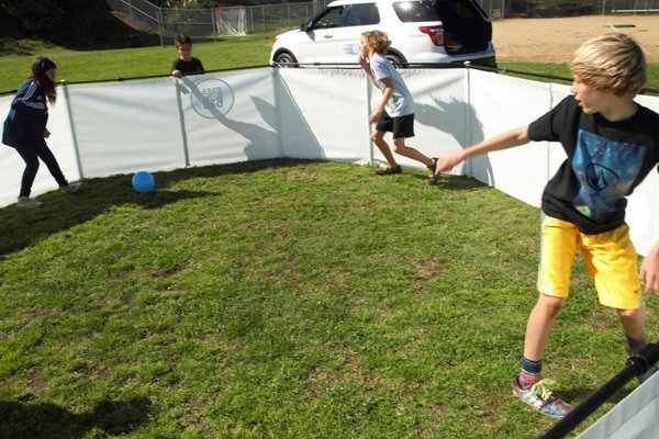 Students from Del Mar Heights and Del Mar Hills come together to play Gaga Ball