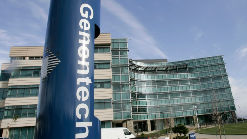 Genentech's headquarters in South San Francisco.