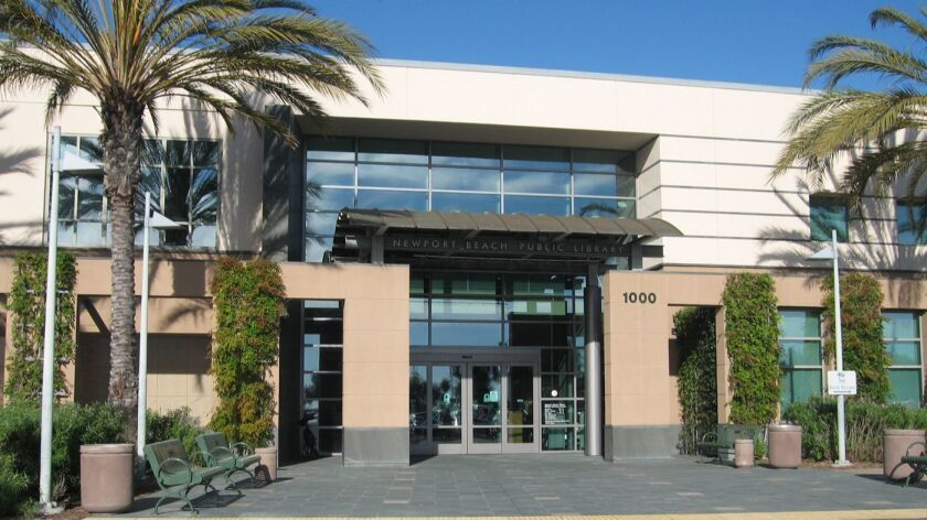The Newport Beach Central Library.