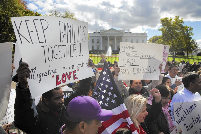 Immigration reform supporters rally outside the White House last week. President Obama is likely to unveil a plan for executive action soon.