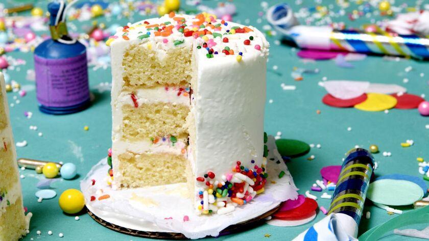 Cake Monkey's miniature vanilla birthday cake.